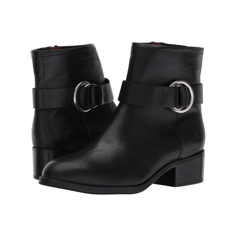 フライ レディース シューズ・靴 ブーツ【Kristen Harness Short】Black Smooth Antique Pull Up