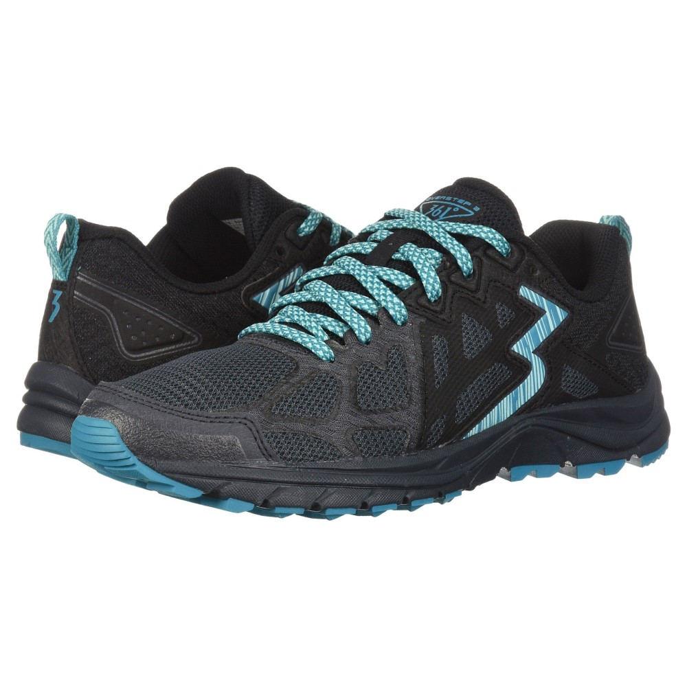 361ディグリーズ レディース ランニング・ウォーキング シューズ・靴【Overstep 2】Ebony/Black