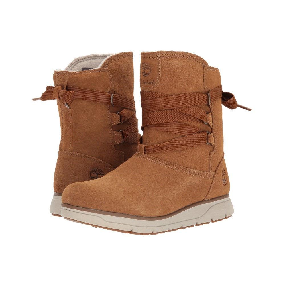 ティンバーランド レディース シューズ・靴 ブーツ【Leighland Pull-On Waterproof Boot】Medium Brown Suede