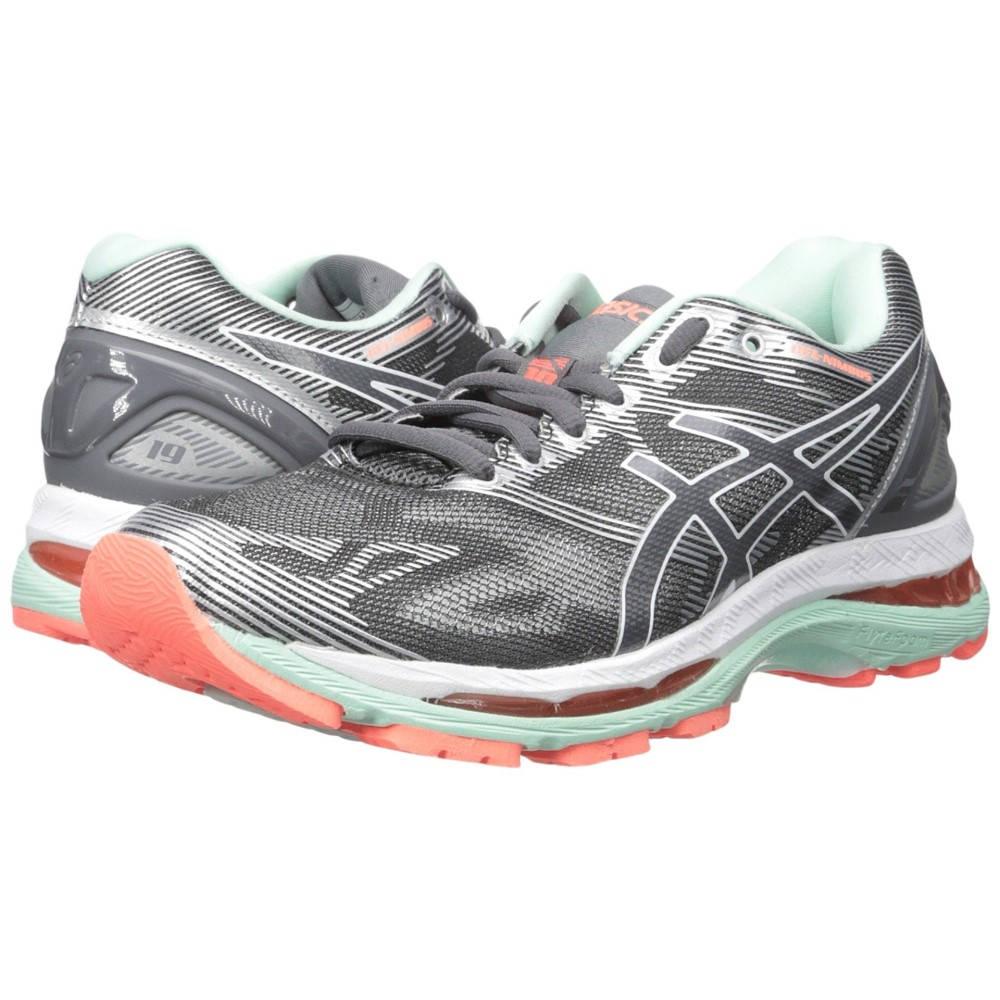 アシックス レディース ランニング・ウォーキング シューズ・靴【GEL-Nimbus 19】Carbon/White/Flash Coral
