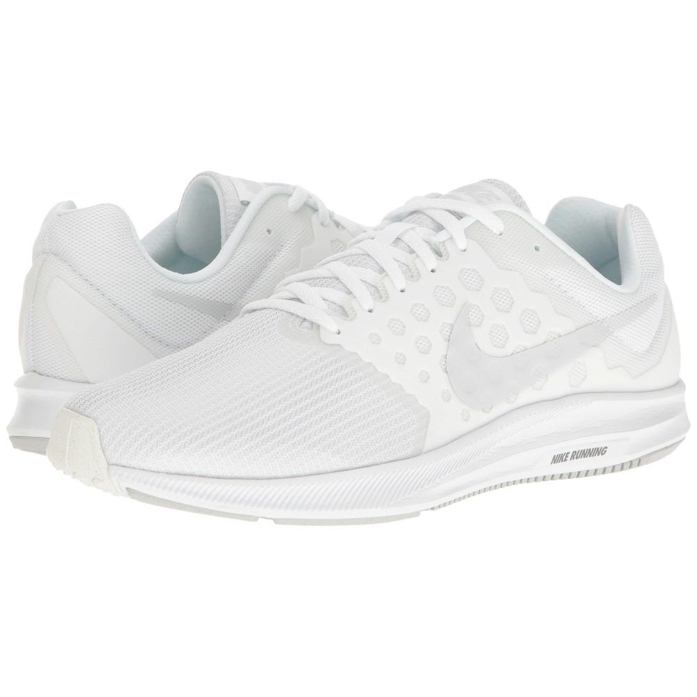 ナイキ メンズ ランニング・ウォーキング シューズ・靴【Downshifter 7】White/Pure Platinum