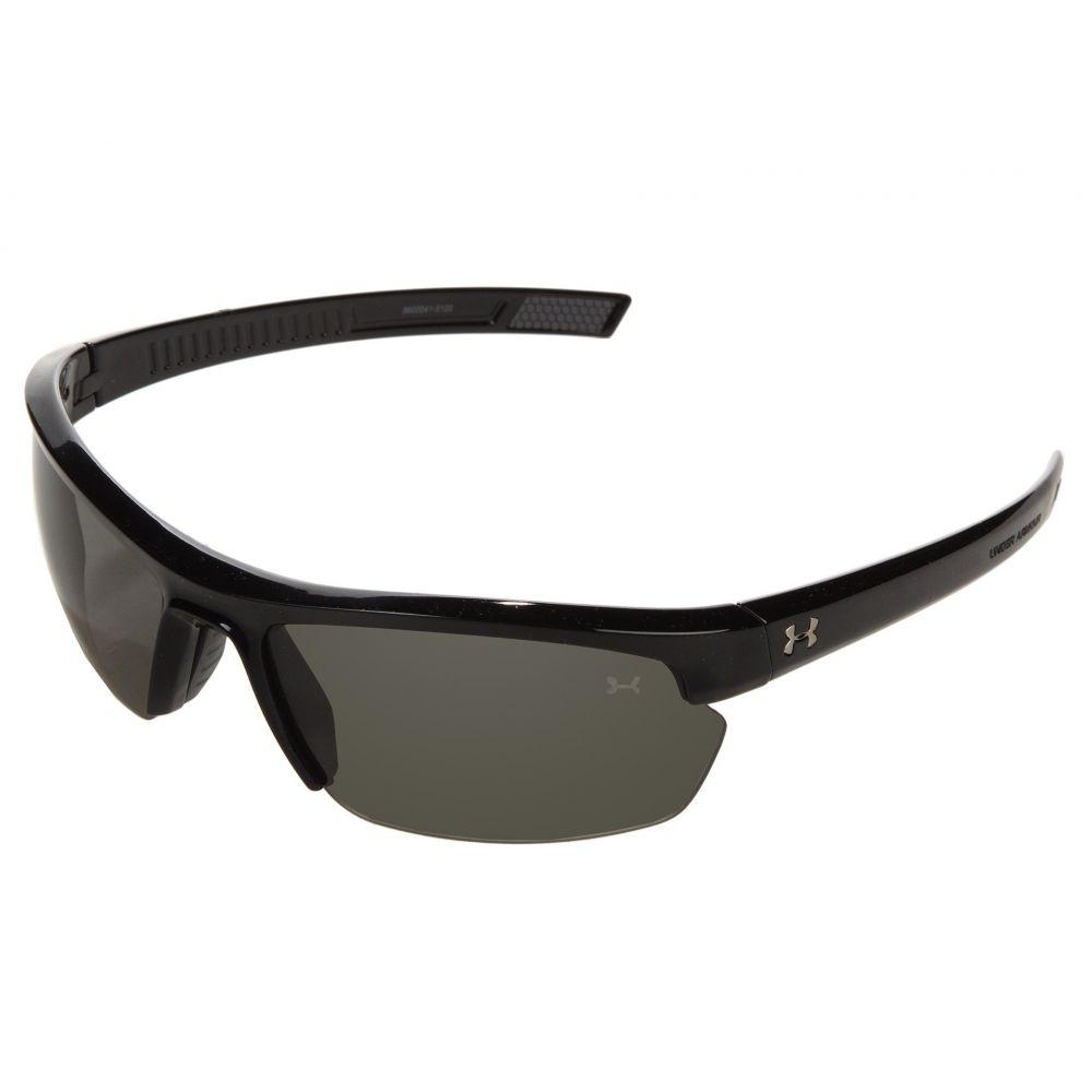 アンダーアーマー メンズ スポーツサングラス【UA Stride XL】Shiny Black/Gray