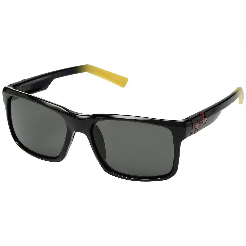 アンダーアーマー メンズ スポーツサングラス【UA Align】Shiny Black/Yellow Fade Frame/Grey Lens
