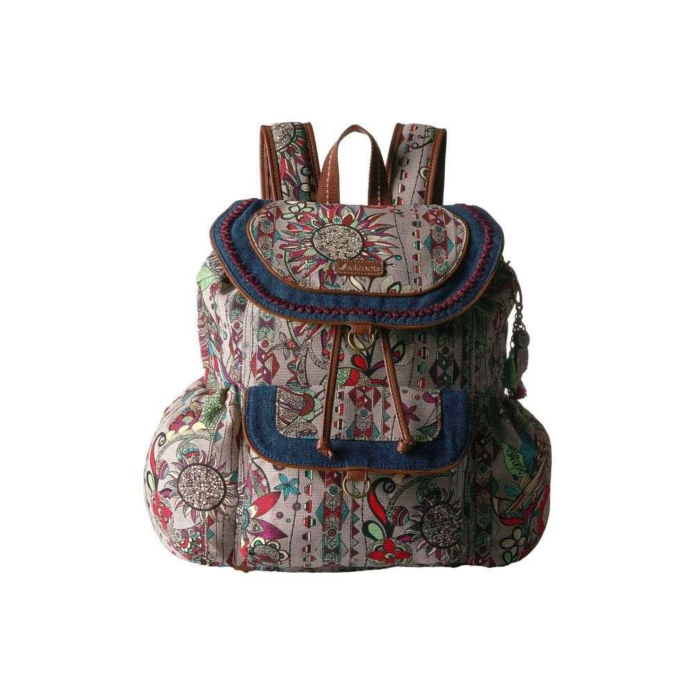 サックルーツ レディース バッグ バックパック・リュック【Sakroots Artist Circle Flap Backpack】Charcoal Spirit Desert