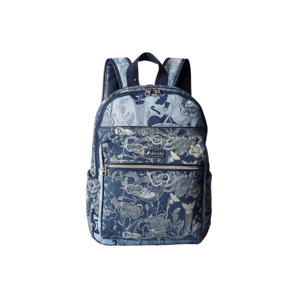 サックルーツ レディース バッグ バックパック・リュック【Artist Circle Cargo Backpack】Denim Peace