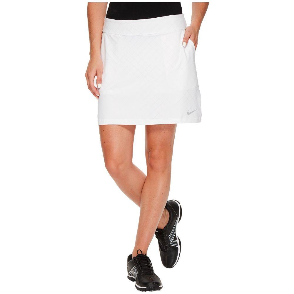 ナイキ レディース ゴルフ ボトムス・パンツ【Tournament Knit Print Skort】White/Flat Silver