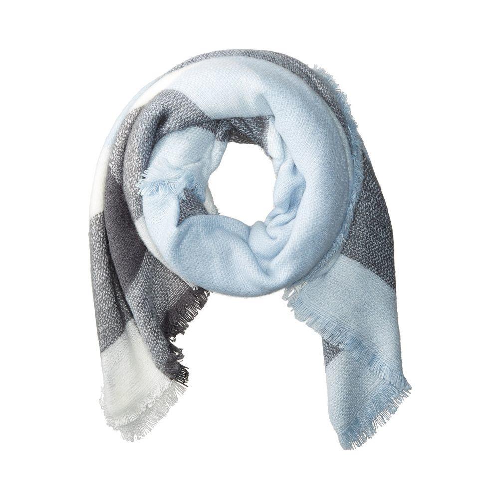 ハットアタック レディース マフラー・スカーフ・ストール【Pastel Blanket Scarf】Grey/Light Blue