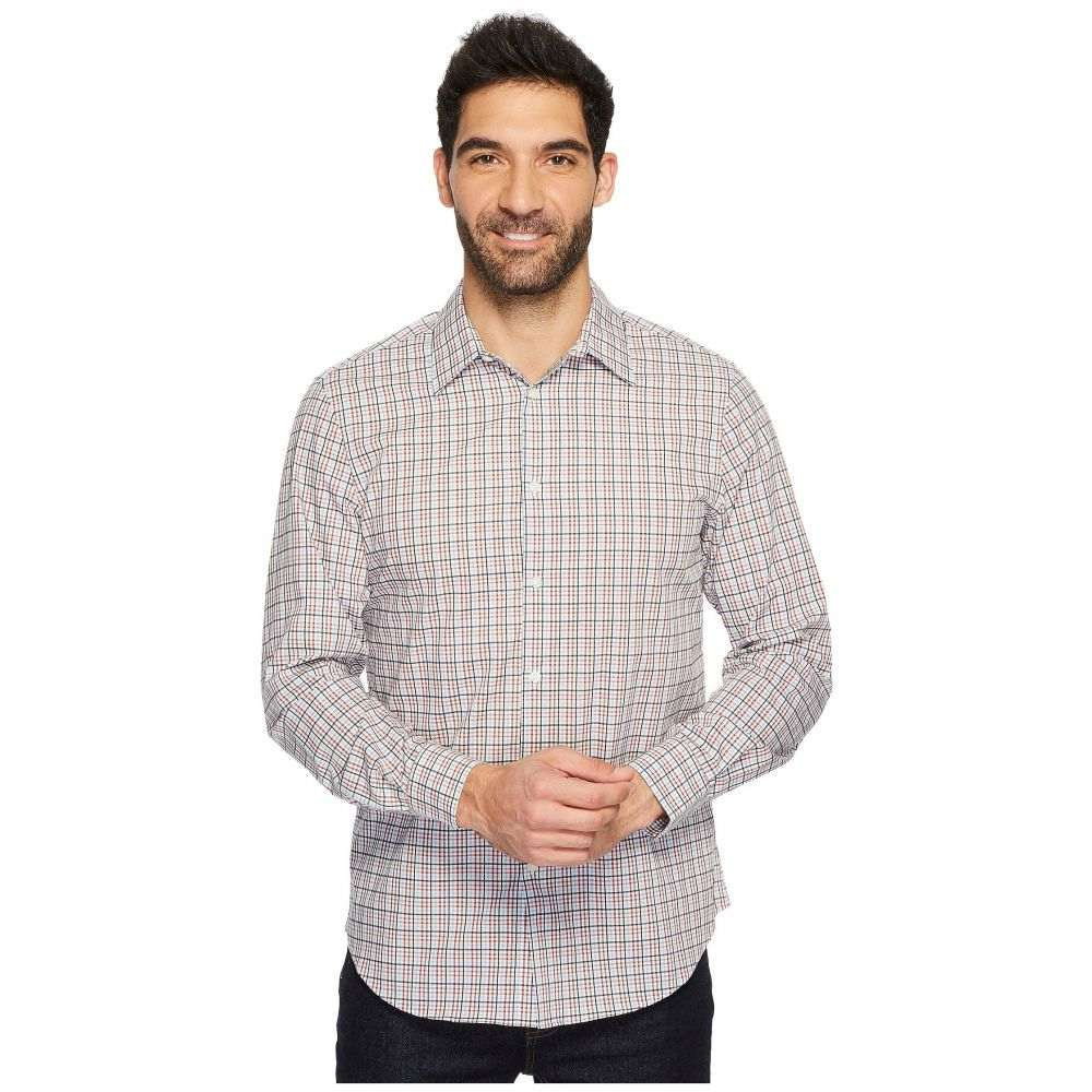ペリー エリス メンズ トップス シャツ【Long Sleeve Multicolor Check Shirt】Bright White