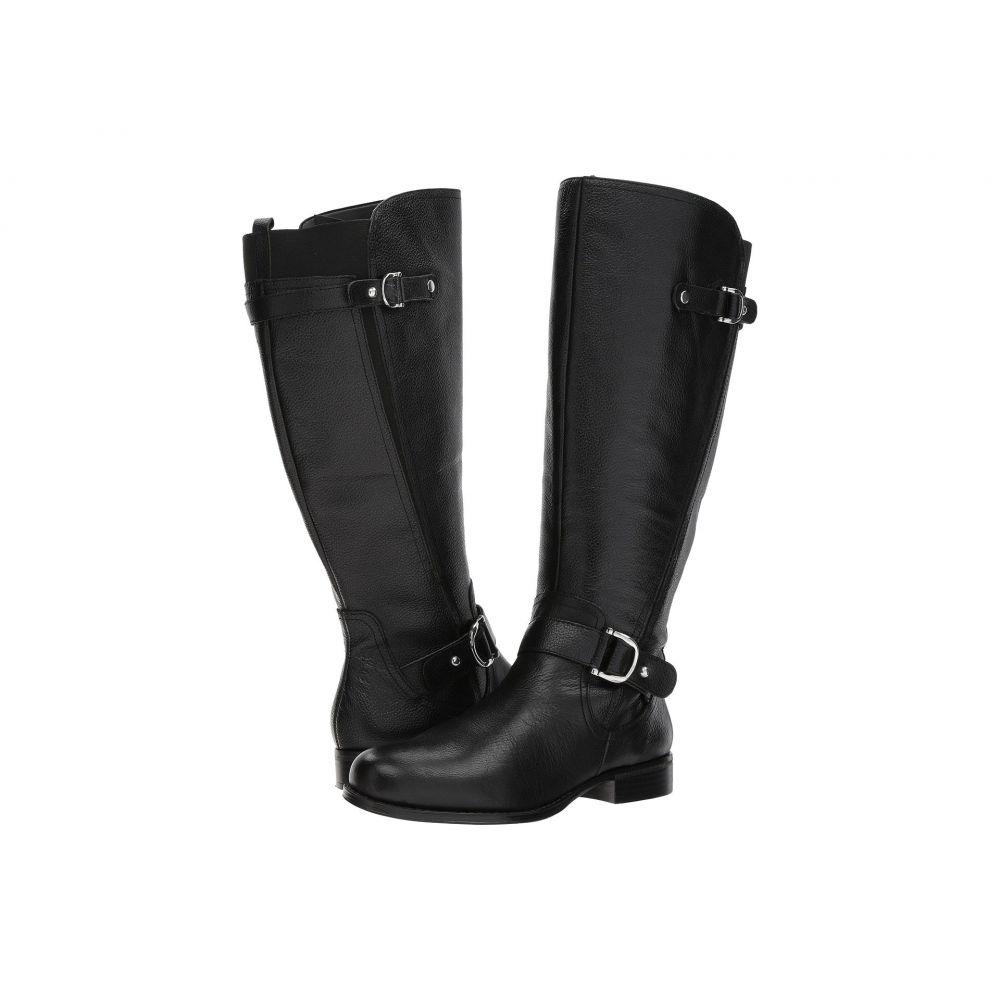 Tumbled Wide レディース ナチュラライザー Calf】Black Leather ブーツ【Jenelle シューズ・靴