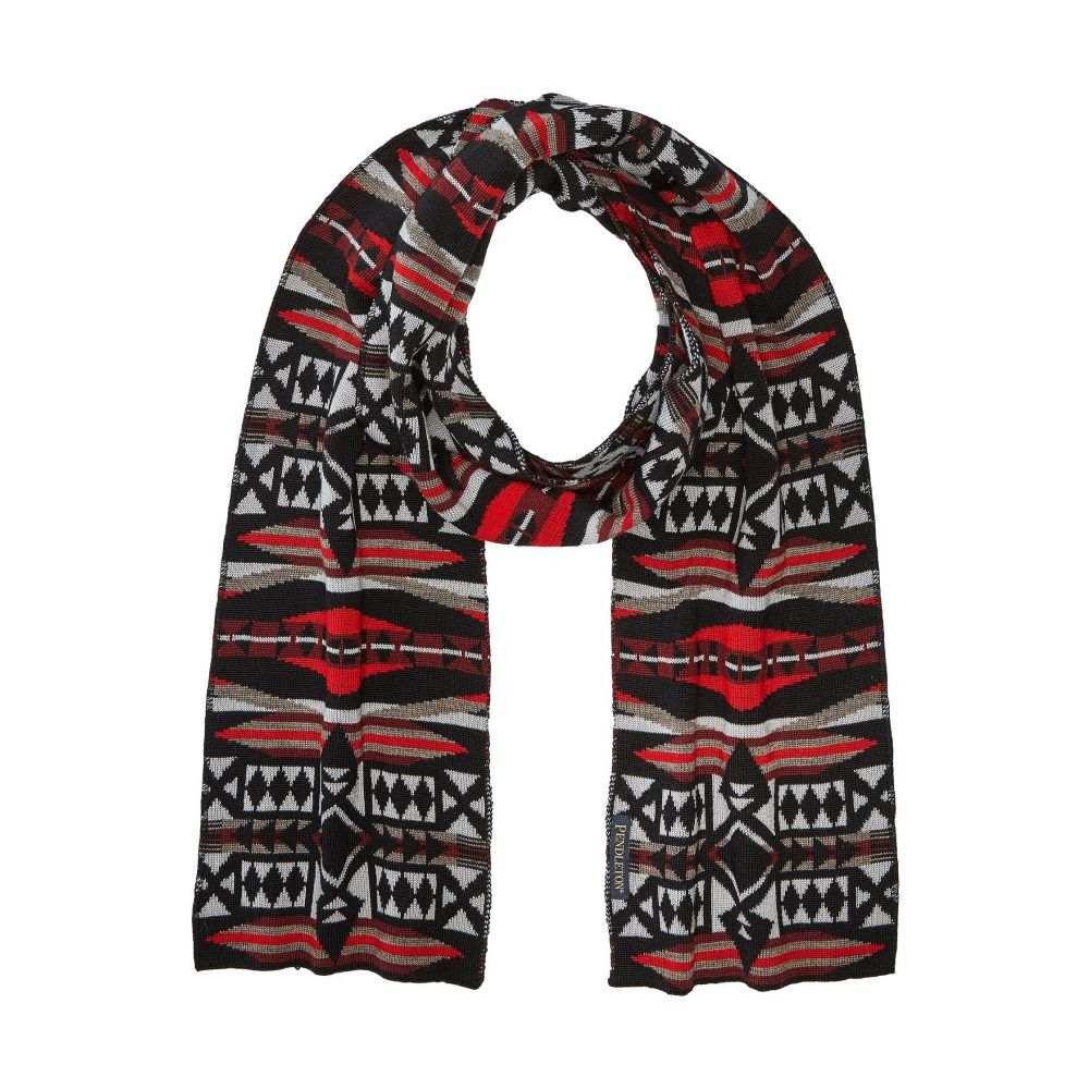 ペンドルトン メンズ マフラー・スカーフ・ストール【Knit Muffler】La Paz Scarlet