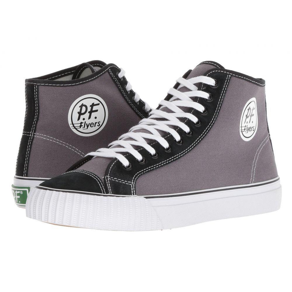 ピーエフフライヤー メンズ バスケットボール シューズ・靴【Center Hi】Grey/Black
