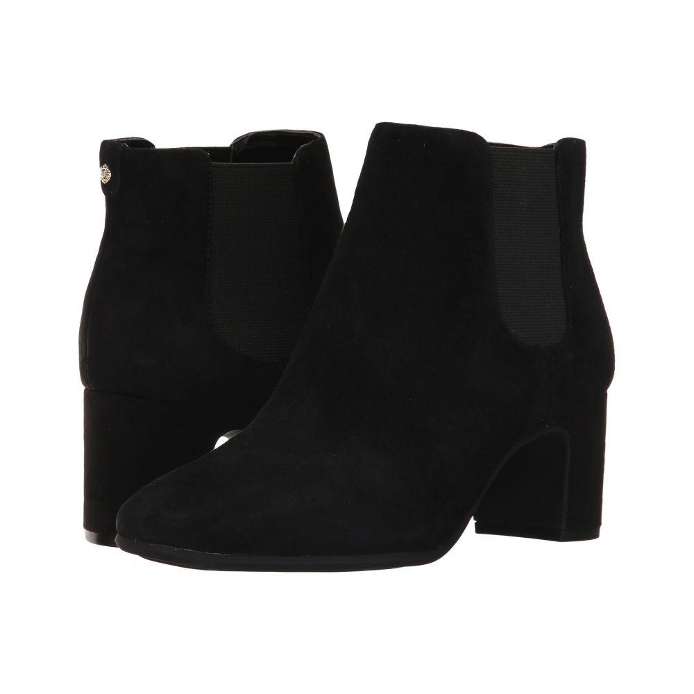 アン クライン レディース シューズ・靴 ブーツ【Gorgia】Black/Black Suede