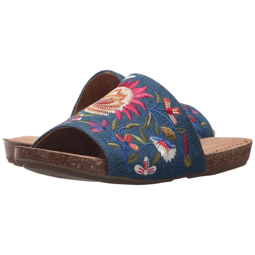 ミートゥー レディース シューズ・靴 サンダル・ミュール【Nella】Blue Floral Embroidered Denim