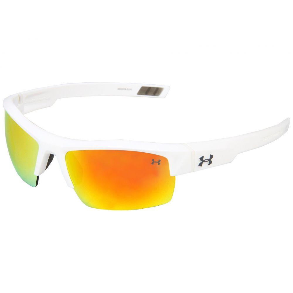 アンダーアーマー メンズ スポーツサングラス【UA Igniter】Shiny White/Gray Orange Multiflection