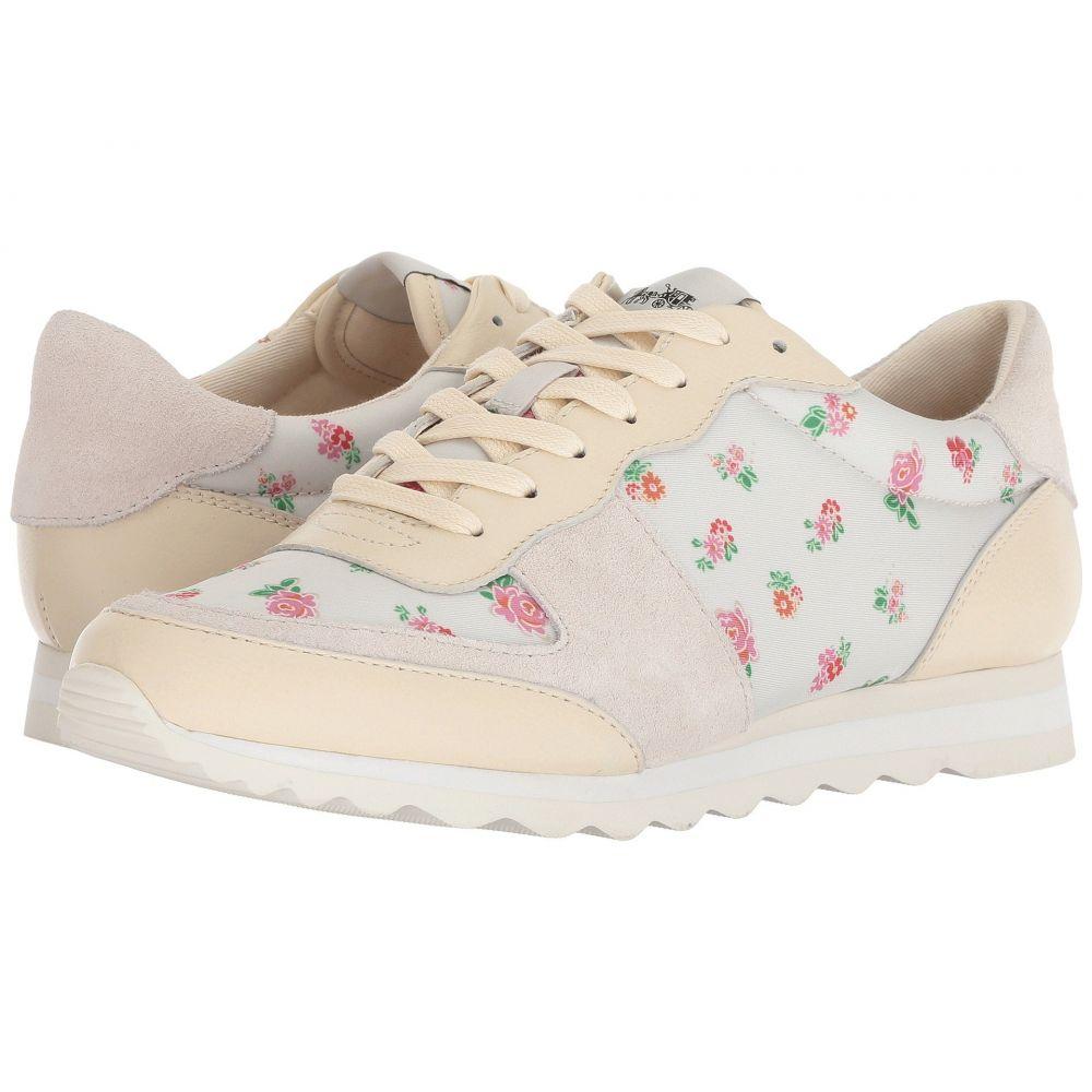 コーチ レディース ランニング・ウォーキング シューズ・靴【C142 Runner】Black/Pink Floral Nylon
