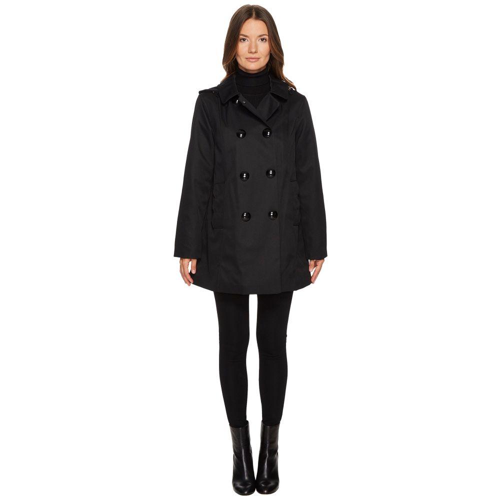 ケイト スペード レディース アウター レインコート【Rain Double-Breasted Hooded Jacket】Black