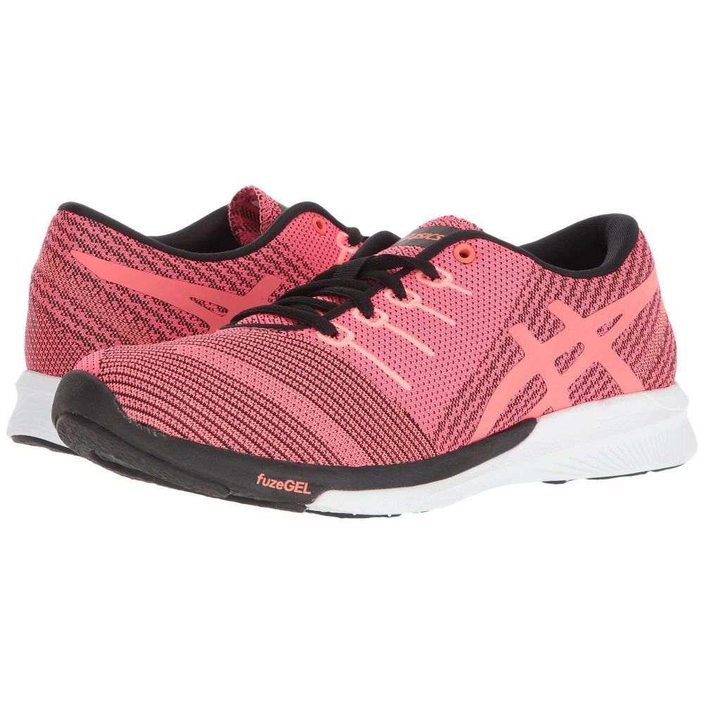 アシックス レディース ランニング・ウォーキング シューズ・靴【fuzeX Knit】Pink Glo/Flash Coral/Black