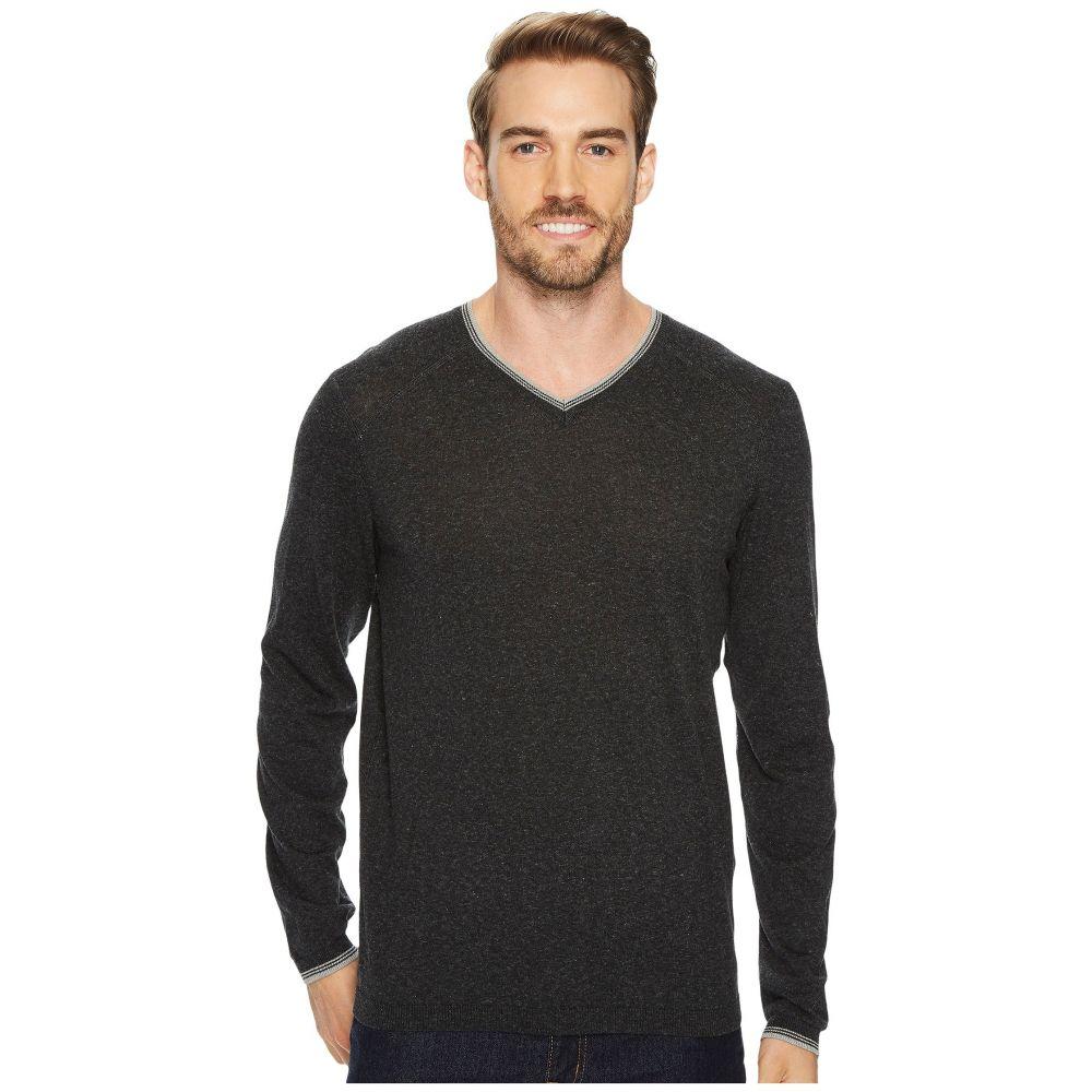 アガベ デニム メンズ トップス ニット・セーター【Fin Long Sleeve V-Neck 14GG Sweater】Stretch Limo