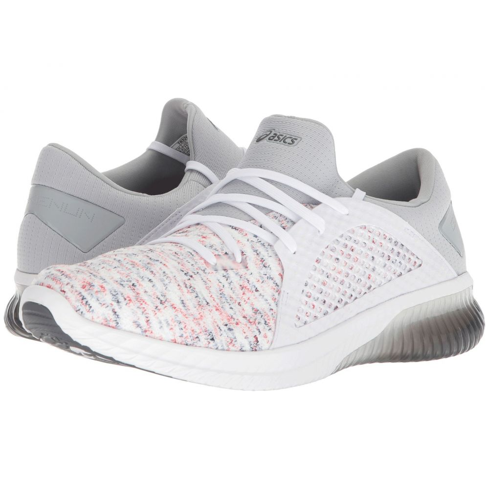 アシックス メンズ ランニング・ウォーキング シューズ・靴【GEL-Kenun Knit】White/White/Mid Grey