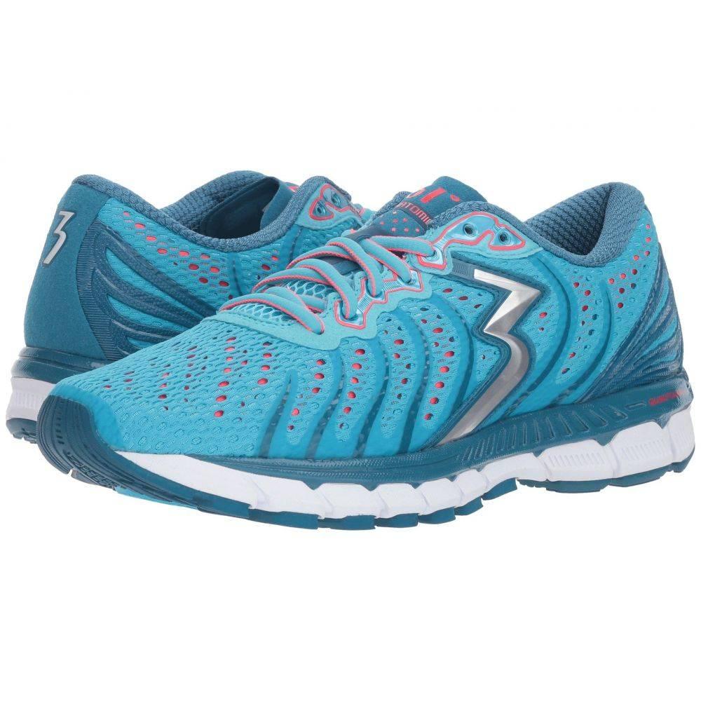 361ディグリーズ レディース ランニング・ウォーキング シューズ・靴【Stratomic】Aqua Blue/Diva Pink
