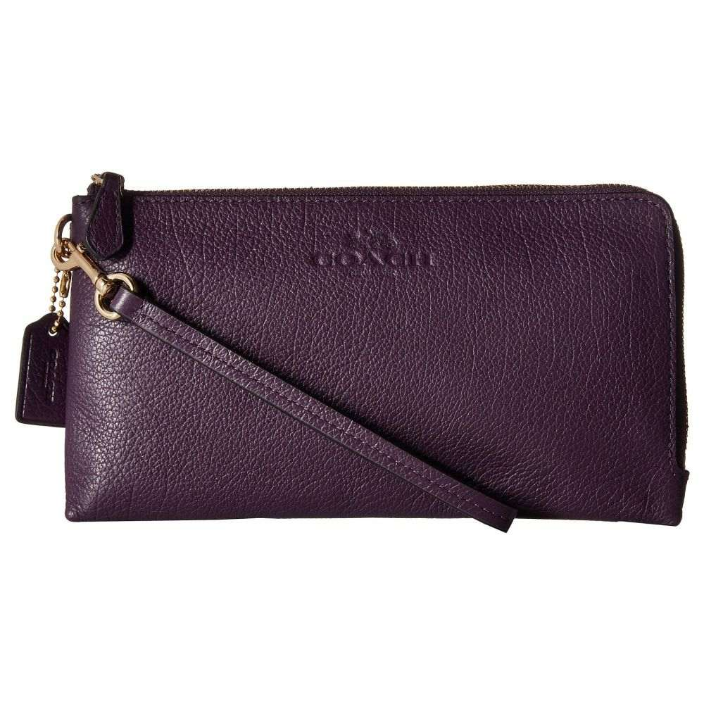 コーチ レディース 財布【Pebbled Leather Double Zip Wallet】IM/Aubergine