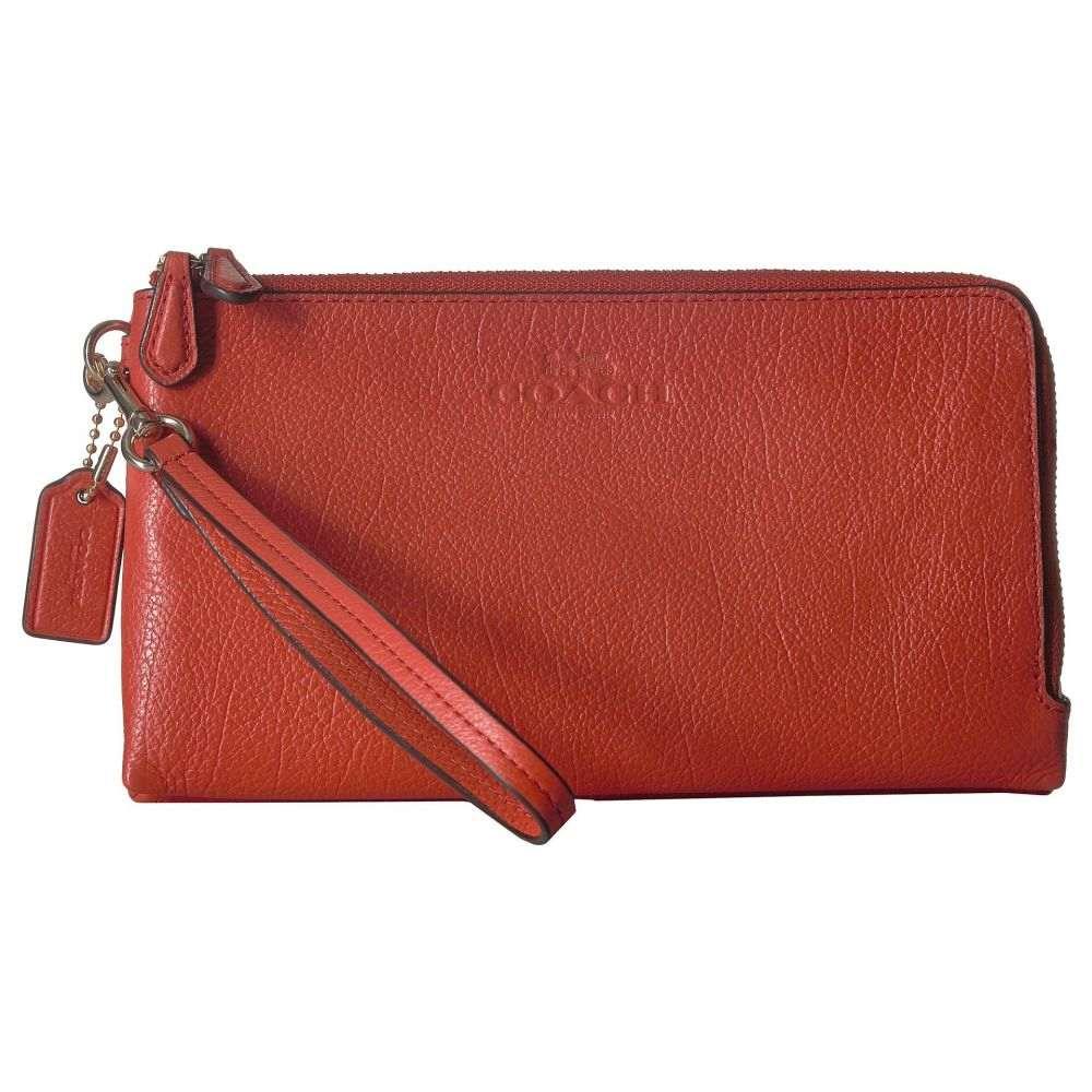コーチ レディース 財布【Pebbled Leather Double Zip Wallet】IM/Coral