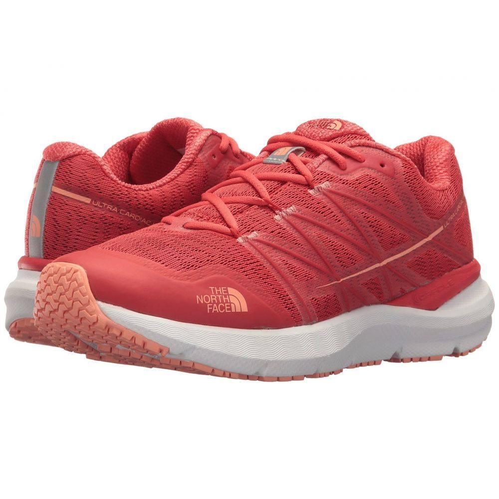 ザ ノースフェイス レディース ランニング・ウォーキング シューズ・靴【Ultra Cardiac II】Juicy Red/Desert Flower Orange