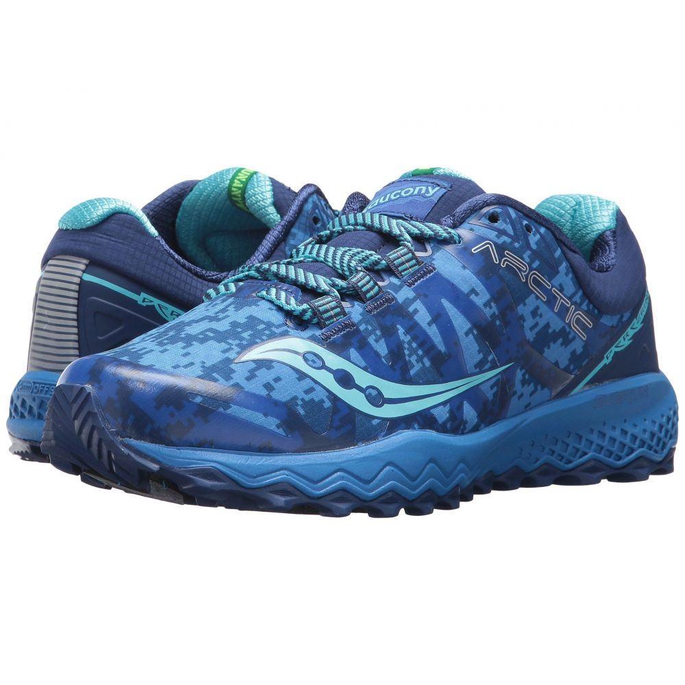 サッカニー レディース ランニング・ウォーキング シューズ・靴【Peregrine 7 Ice+】Blue