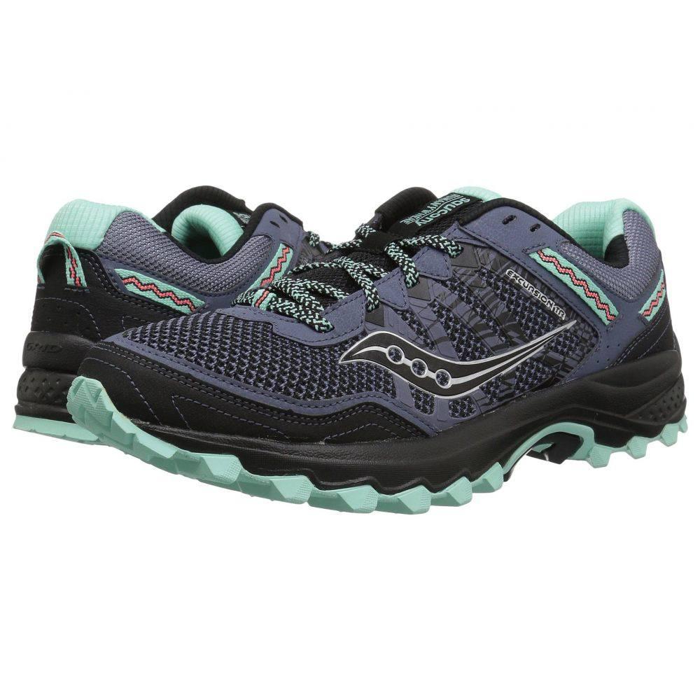 サッカニー レディース ランニング・ウォーキング シューズ・靴【Grid Excursion TR12】Aqua/Black