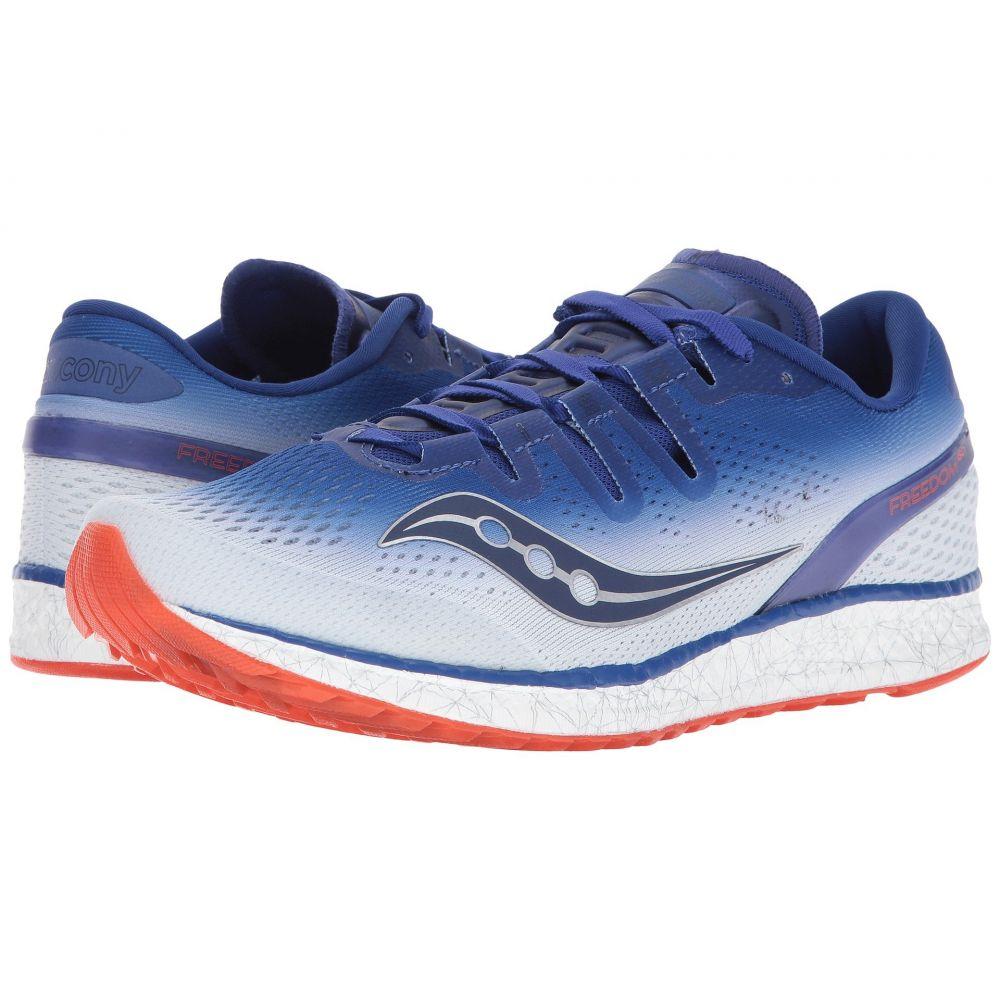 サッカニー メンズ ランニング・ウォーキング シューズ・靴【Freedom ISO】Blue/White