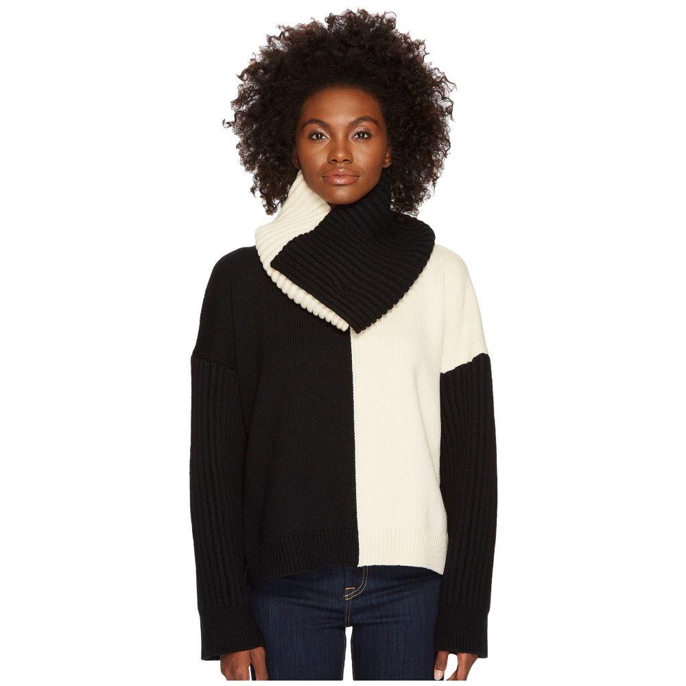 スポーツマックス レディース トップス ニット・セーター【Califfo Removable Infinity Neck Bias Block Sweater】Black/White
