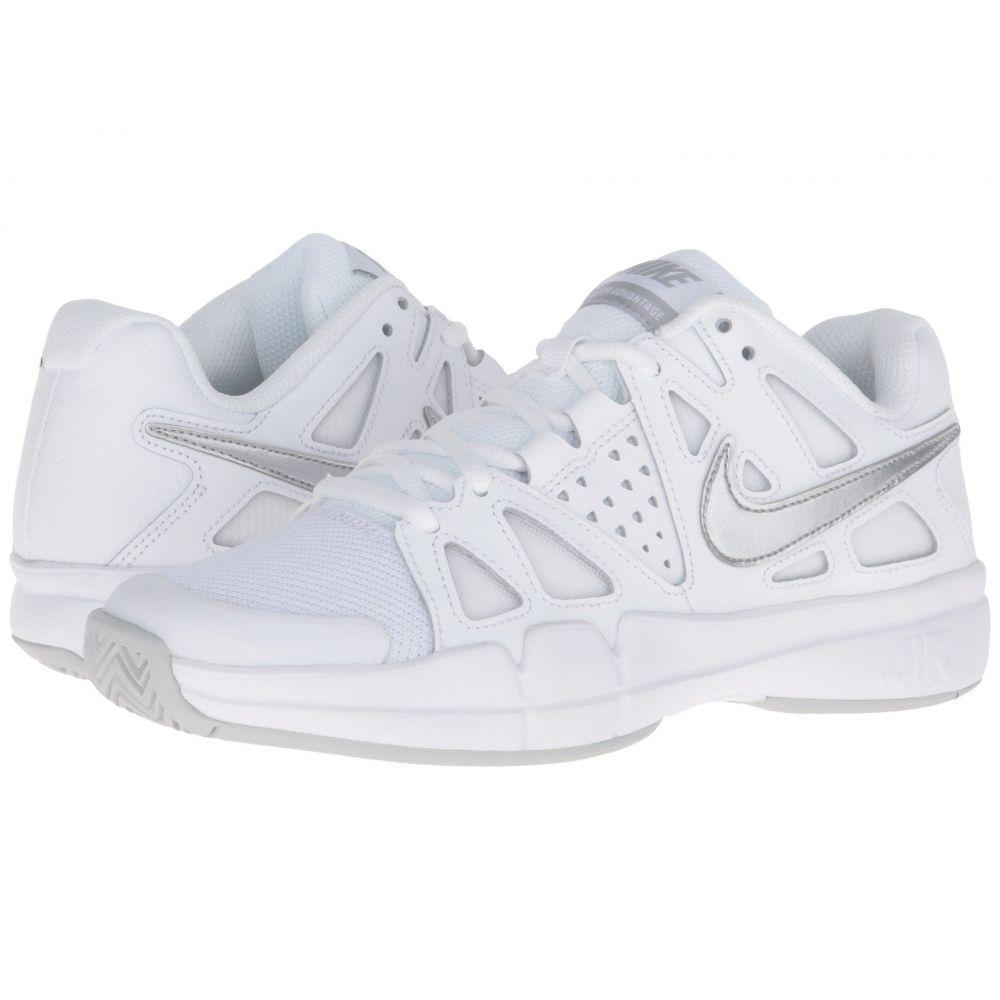 ナイキ レディース テニス シューズ・靴【Air Vapor Advantage】White/Medium Grey/Metallic Silver