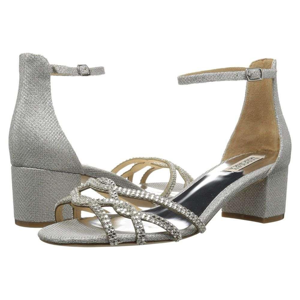 バッジェリー ミシュカ レディース シューズ・靴 サンダル・ミュール【Sonya】Silver Diamond Drill Fabric