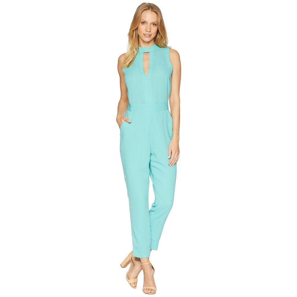 ベベ レディース ワンピース・ドレス オールインワン【Keyhole Mock Tapered Leg Jumpsuit】Blue Turquoise