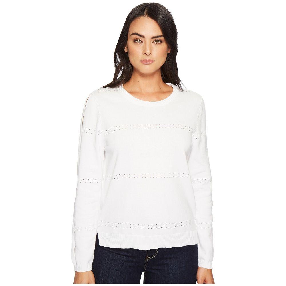 マイケルスターズ レディース トップス ニット・セーター【Cotton Knits Reversible Pullover with Sleeve Slashes】White