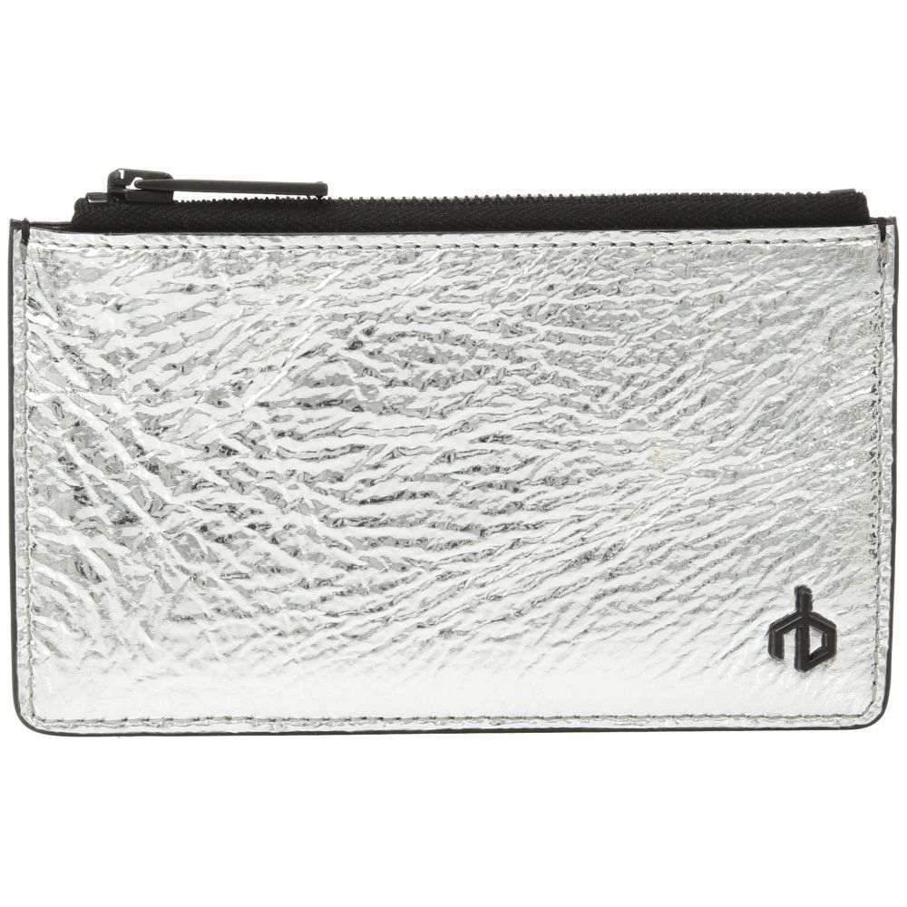 ラグ&ボーン レディース カードケース・名刺入れ【Zip Card Case】Silver