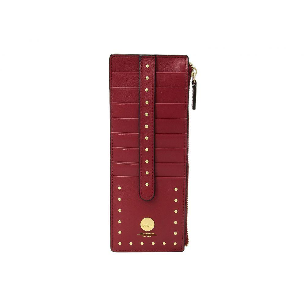 ロディス アクセサリー レディース カードケース・名刺入れ【Pismo Stud RFID Credit Card Case with Zipper Pocket】Red
