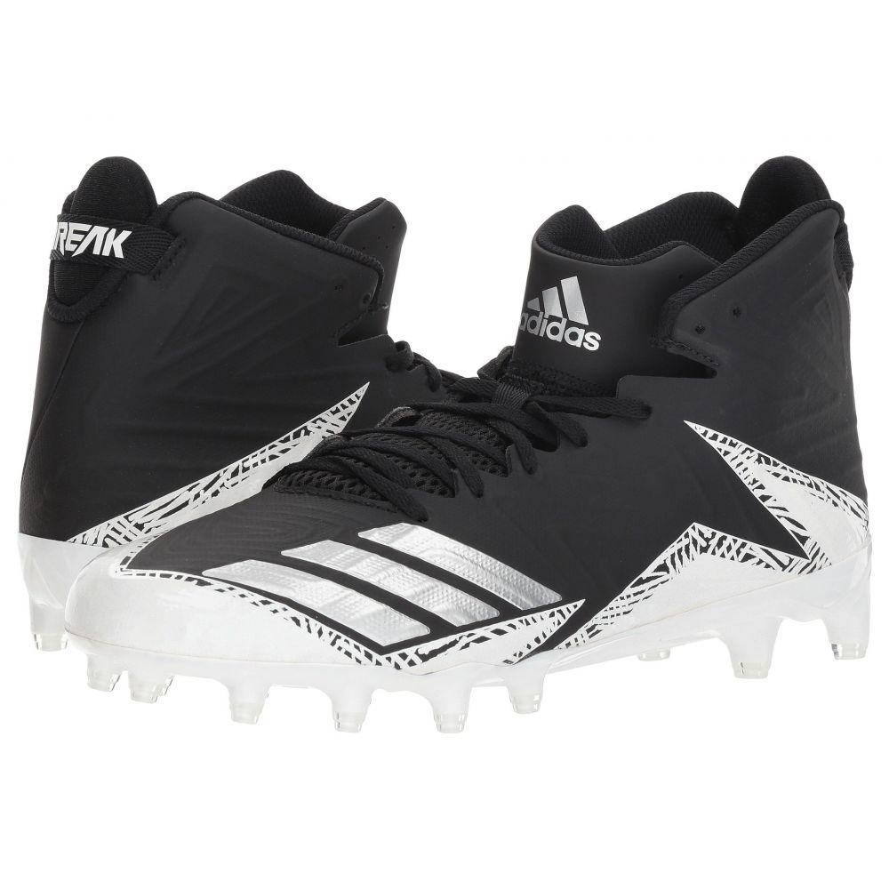 アディダス メンズ アメリカンフットボール シューズ・靴【freak X CARBON Mid Football】Black/Silver/White