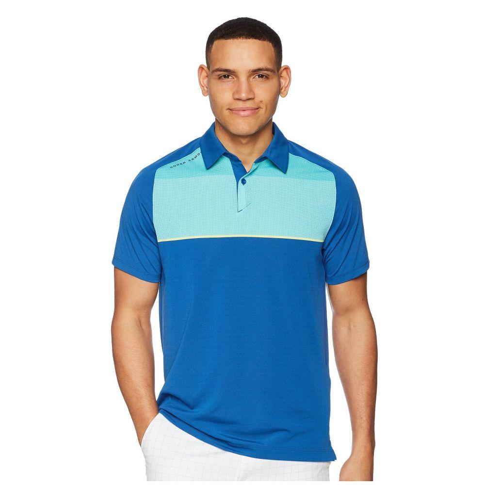 アンダーアーマー メンズ トップス ポロシャツ【Threadborne Infinite Polo】Moroccan Blue/Tropical Tide/Rhino Gray