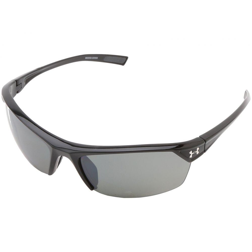 アンダーアーマー メンズ スポーツサングラス【UA Zone 2.0】Shiny Black Frame w/ Charcoal Gray Rubber/Gray Polarized w/ Mult