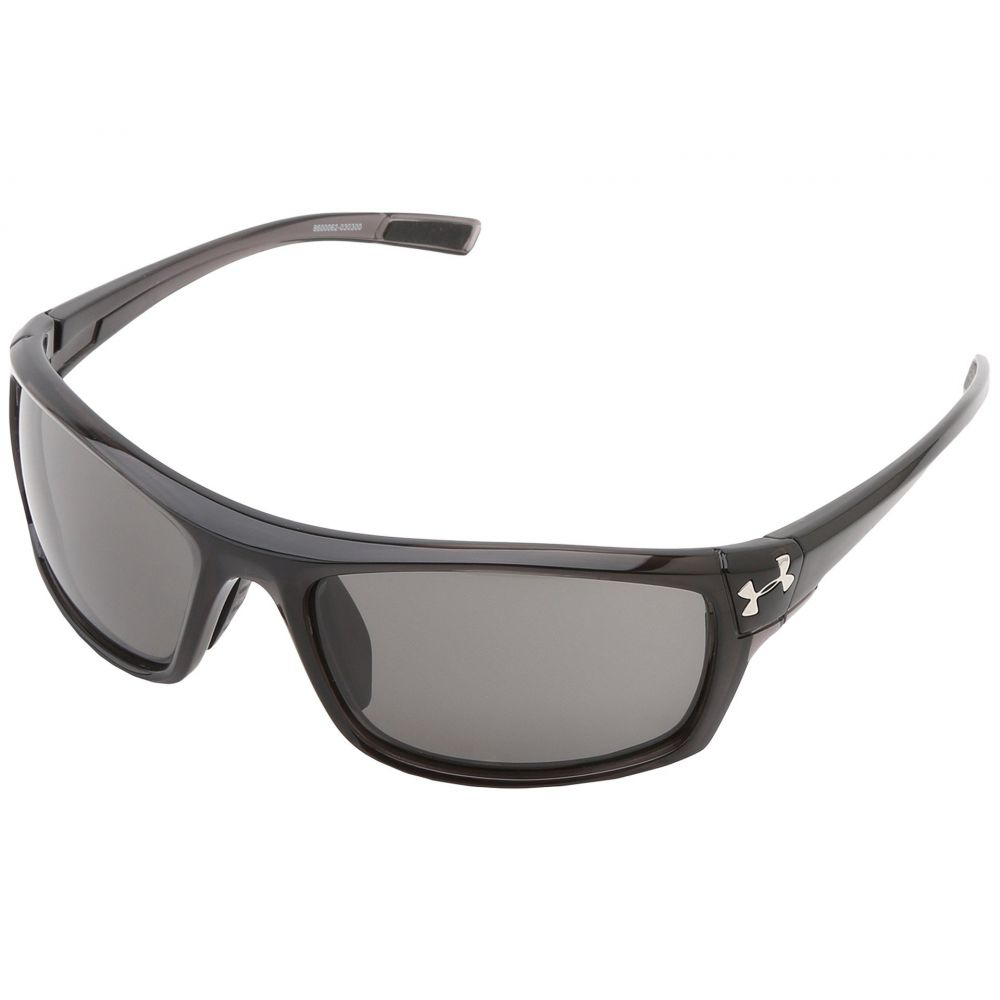アンダーアーマー メンズ スポーツサングラス【UA Keepz】Shiny Crystal Black Frame w/ Black Rubber/Gray Lens