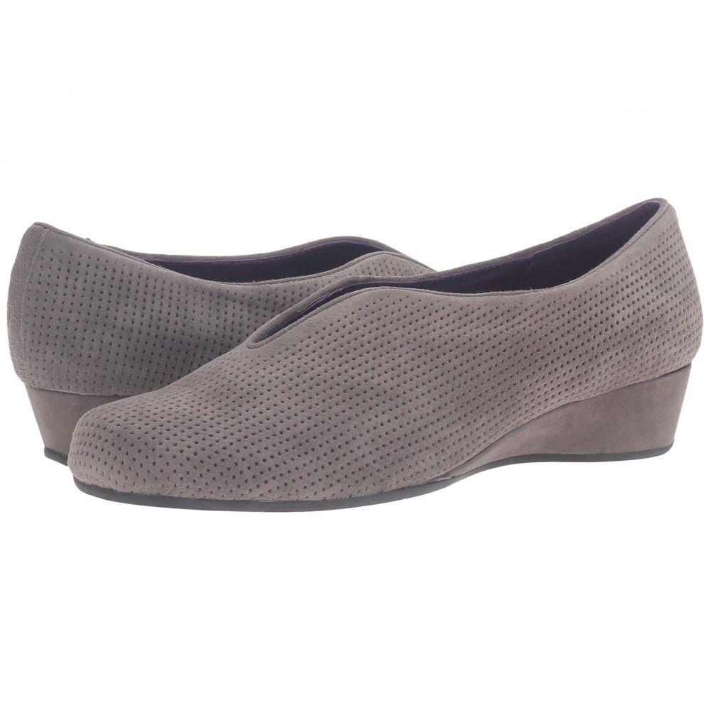 ヴァネリ レディース シューズ・靴【Mango】Grey Perforated Suede