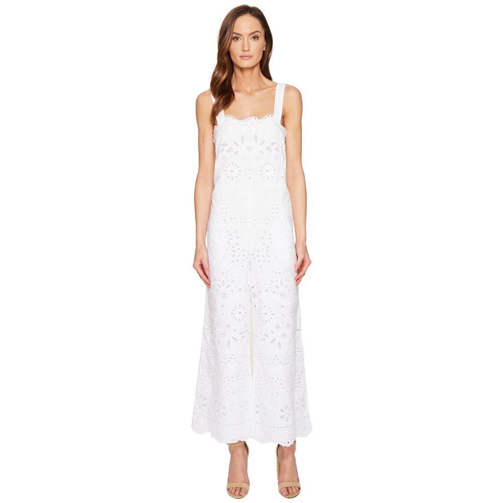 ヴァレンティノ レディース ワンピース・ドレス オールインワン【Cotton Muslin and Sangallo Embroidery Jumpsuit】White