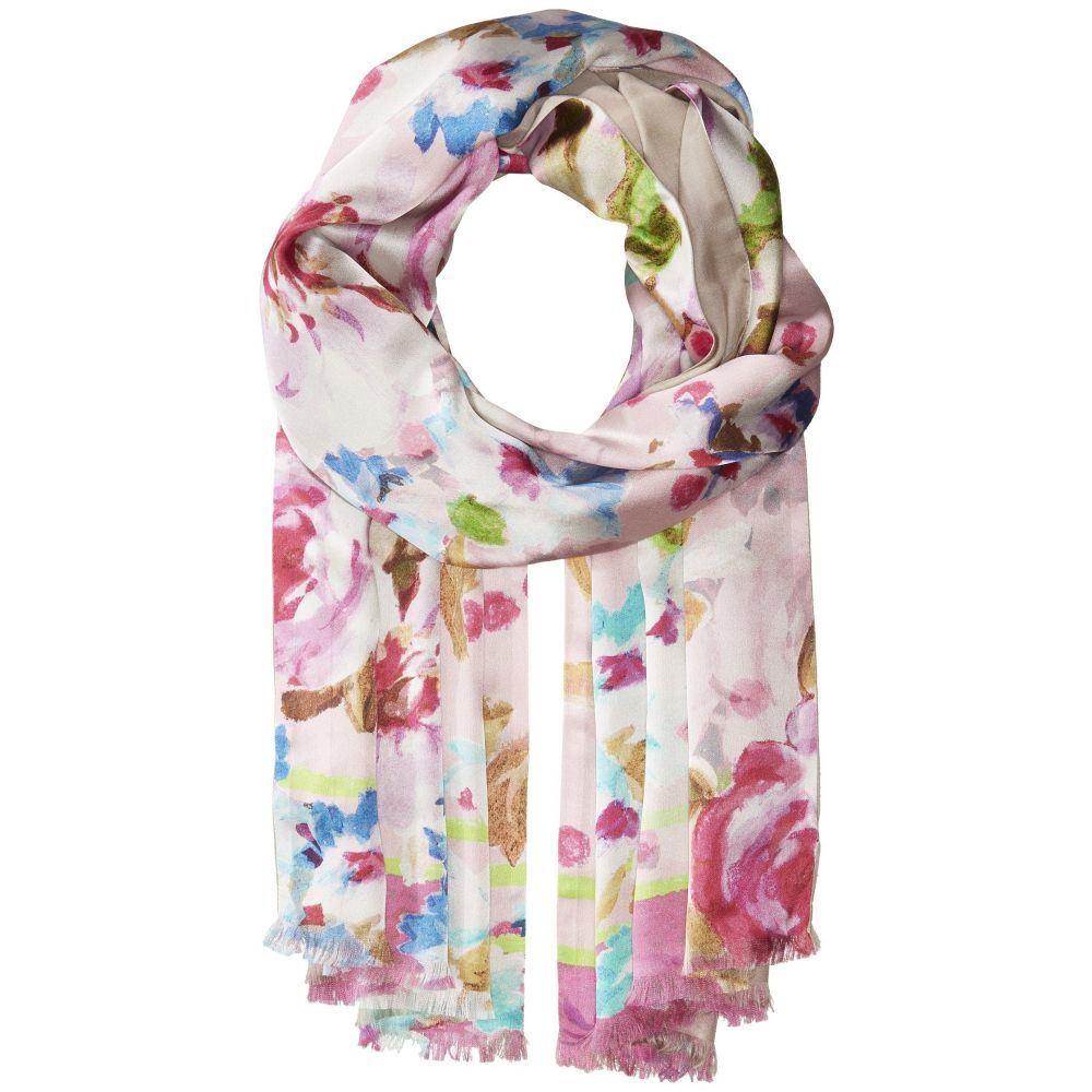 エコー レディース マフラー・スカーフ・ストール【Springtime Floral Oblong】Rose Pink