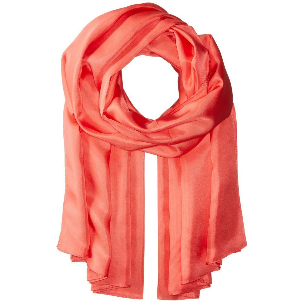 エコー レディース マフラー・スカーフ・ストール【The Everyday Silk Wrap】Hot Coral
