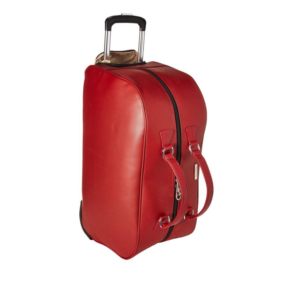 カルバンクライン メンズ バッグ スーツケース・キャリーバッグ【Lenox Hill Wheeled Duffle】Red