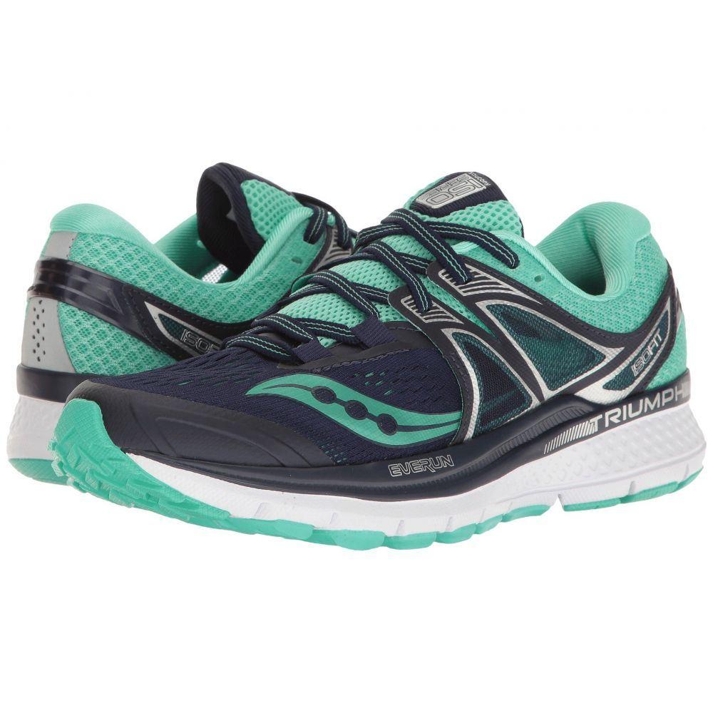 サッカニー レディース ランニング・ウォーキング シューズ・靴【Triumph ISO 3】Navy/Blue