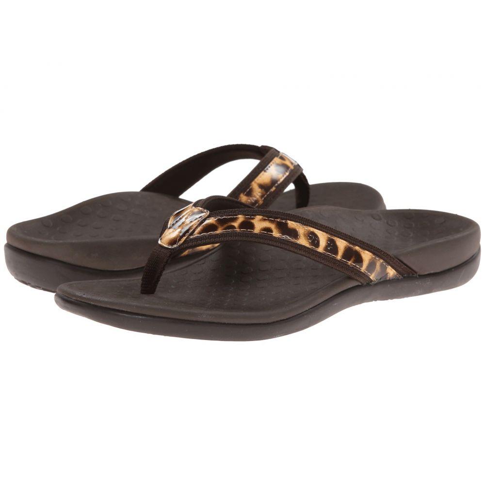 バイオニック レディース シューズ・靴 ビーチサンダル【Tide II】Brown Leopard
