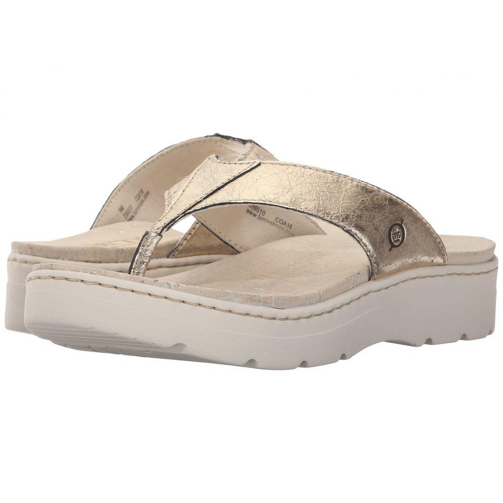 ボーン レディース シューズ・靴 ビーチサンダル【Bermuda】Platino Metallic