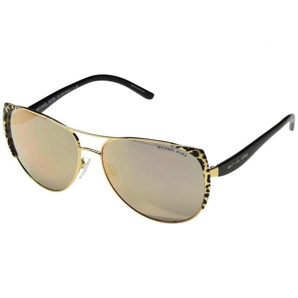 マイケル コース レディース メガネ・サングラス【Sadie I】Black Gold Leopard/Black/Gold Mirror